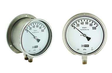 Manómetro de presión Diferencial con doble bourdon